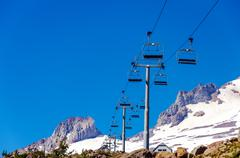 Chairlift Above - stock photo