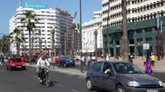 City street in Casablanca, Morocco - stock footage