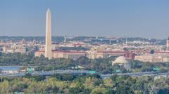 Washington monument and washington DC time lapse Stock Footage