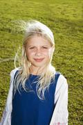 blond girl, portrait - stock photo