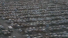 Thousands of cars in a crowded parking lot. Stock Footage