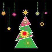Joulukuusi vektori x-mas design elementti Piirros