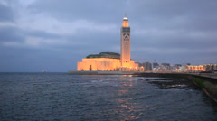 Mosque of Hassan II in Casablanca, Morocco Stock Footage