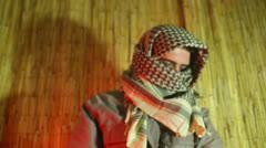 Jihad ammo belt prepare terrorism 1 Stock Footage
