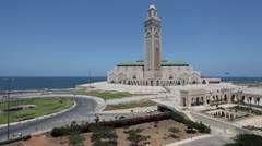 Great Mosque of Hassan II in Casablanca, Morocco - stock footage