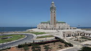 Stock Video Footage of Great Mosque of Hassan II in Casablanca, Morocco