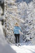 Stock Photo of Austria, Tyrol, Seefeld, Woman cross country skiing