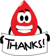 Thank you for your blood donation Stock Illustration