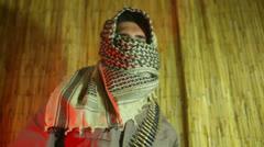 Terrorist dancing dance Stock Footage