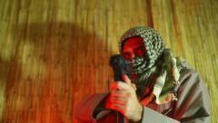 Terrorist jihad gun Stock Footage