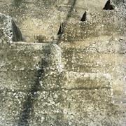 Jordan, Amman, Steps of staircase, detail, full frame - stock photo
