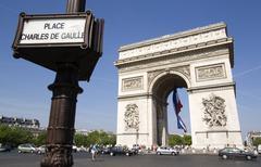 France, Paris, Arc de Triomphe, Place Charles De Gaulle Stock Photos