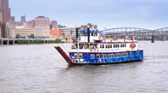 Gateway Clipper Fleet Carries Passengers Stock Footage