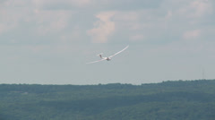 Sailplane Landing at Gliderport 11 Stock Footage