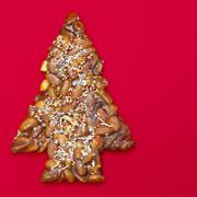 Tree-shaped almond cookie, close-up Stock Photos
