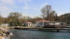 Kucuksu coast in Istanbul Stock Footage