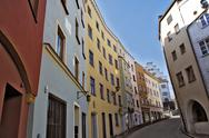 Stock Photo of Germany, Wasserburg am Inn, Downtown, Row of houses