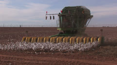 Cotton harvester end of row turn Stock Footage
