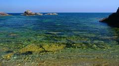 Peaceful picturesque seascape. - stock footage
