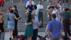 Tango at the Trocadero - Paris France Stock Footage