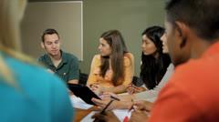 Multi Ethnic Teenage Students College Classroom Stock Footage