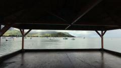 Hanalei Bay Pier Steadicam Shot Stock Footage