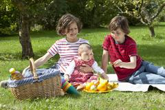Germany, Bavaria, Children having picnic Stock Photos