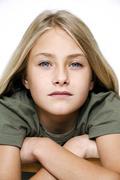 Portrait of tyttö (13-14) Kuvituskuvat