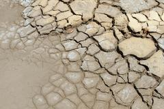 Dry soil in arid areas . Stock Photos