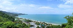 Sunny day on the tropical beach.   province trat. koh chang island. kingdom t Stock Photos
