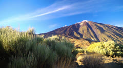 Mountains landscape, Tenerife island, Spain.. Stock Footage