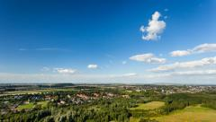 West German Wind Energy Landscape Timelapse Stock Footage
