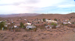 Overview of a Nevada desert town. Stock Footage