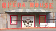 The Opera House in the old Western mining town of Randsburg California. - stock footage