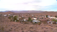 Stock Video Footage of Overview of a Nevada desert town.