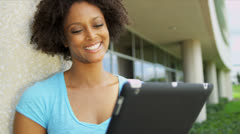 Young Female African American Undergraduate College Campus Stock Footage