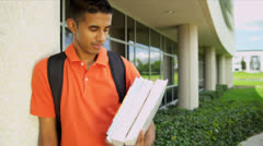 Portrait Young Asian Indian Male Student Stock Footage