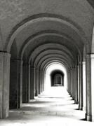Stock Photo of Germany, Frankfurt, arcades at cemetery