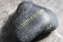 Rememberance-stone - stock photo