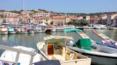 The port of Cassis, south of France Stock Footage