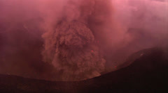 The Nyiragongo volcano by daylight in the Democratic Republic of Congo. Stock Footage