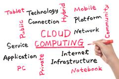 Stock Photo of cloud computing concept
