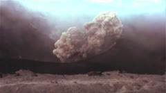 Handheld shot of a volcano erupting. - stock footage