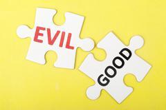 Evil vs good Stock Photos