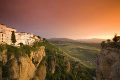 Spain, Andalusia, Ronda with afterglow Stock Photos