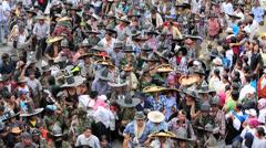 Inti Raymi festival in Cotacachi Ecuador Stock Footage