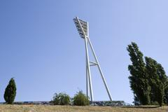 Germany, Berlin, Prenzlauer Berg, Mauerpark, floodlight Stock Photos