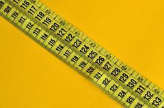 Plastic tape measure Stock Photos