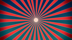 Sunburst in red and blue vintage style Stock Footage