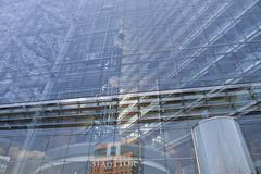 Germany, North-Rhine-Westphalia, Duesseldorf, Stadttor building, close-up Stock Photos